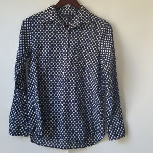 J. Crew Modern Floral Popover Shirt, Size 6